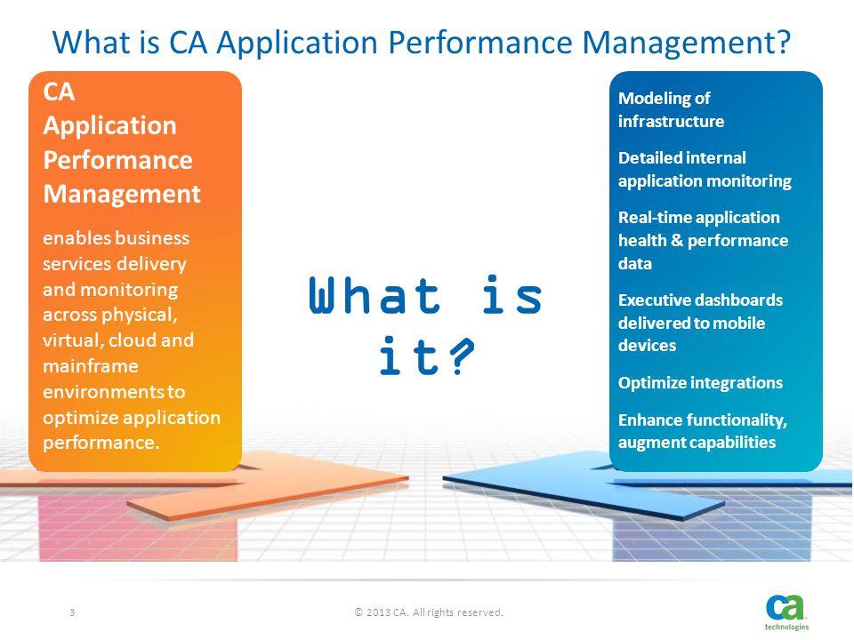 CA Application Performance Management Implementation Services ...