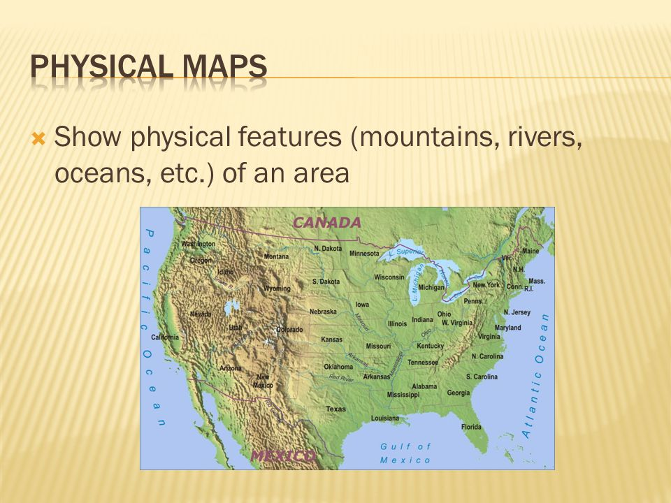 Map Skills Ppt Video Online Download - Physical map of kentucky