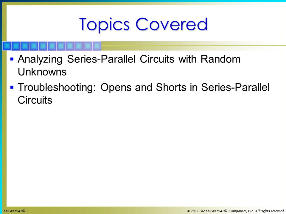 Topics Covered Analyzing Series-Parallel Circuits with Random Unknowns