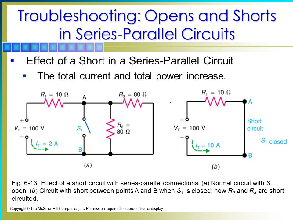 Troubleshooting: Opens and Shorts in Series-Parallel Circuits