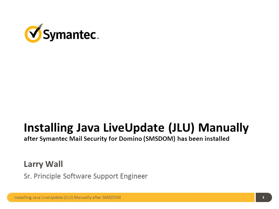 Update symantec manually.