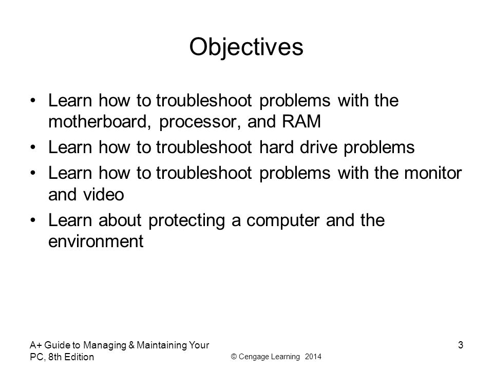 A+ Guide to Managing & Maintaining Your PC, 8th Edition ...