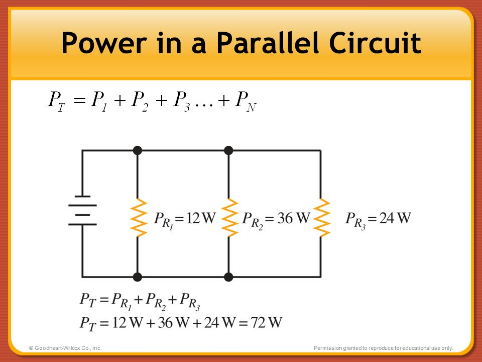 Power in a Parallel Circuit