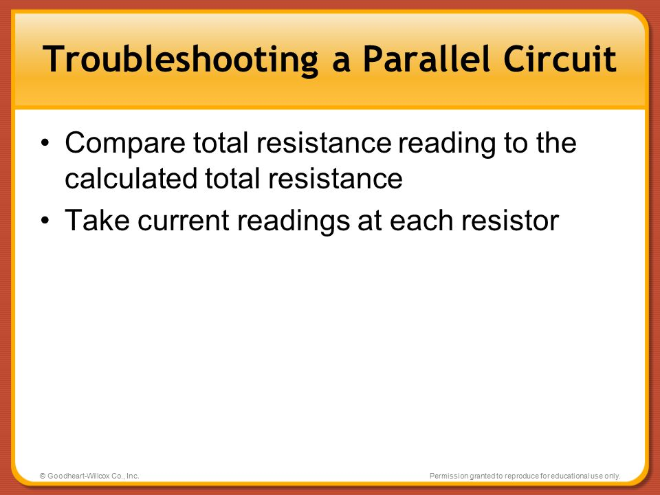 Troubleshooting a Parallel Circuit