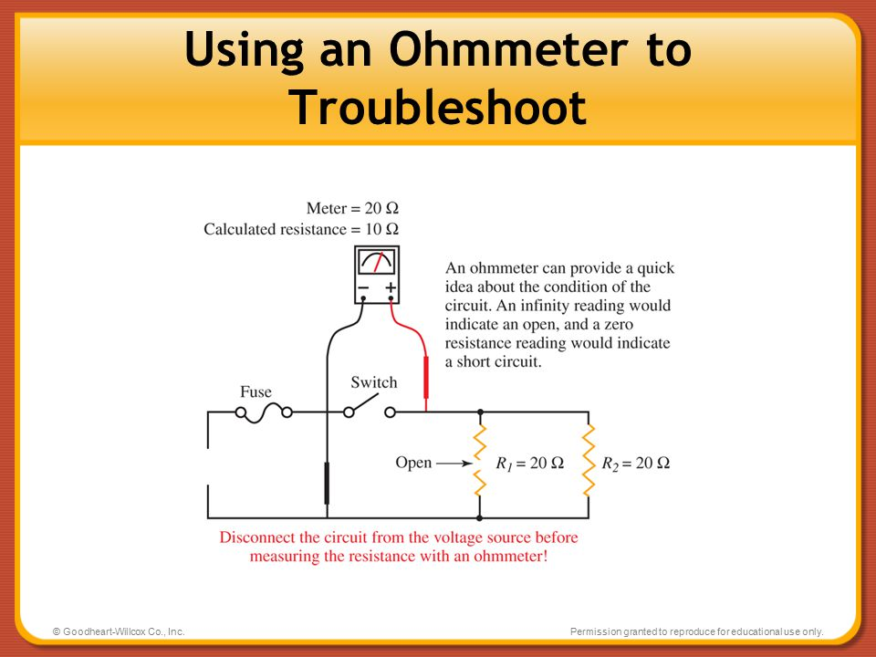 Using an Ohmmeter to Troubleshoot