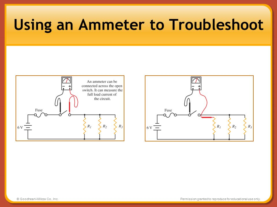 Using an Ammeter to Troubleshoot