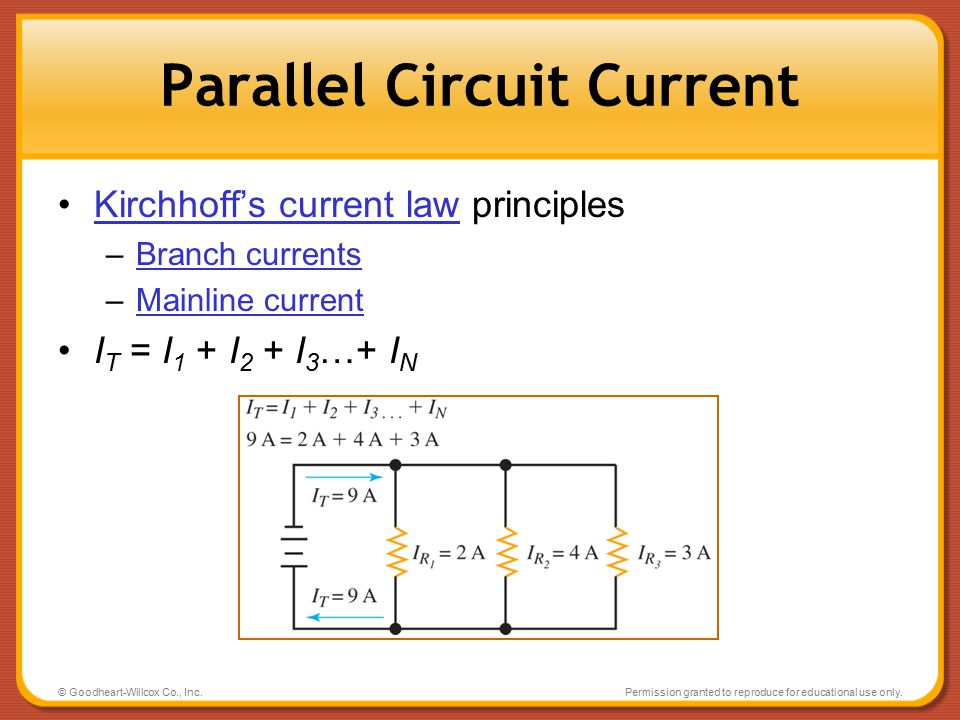 Parallel Circuit Current