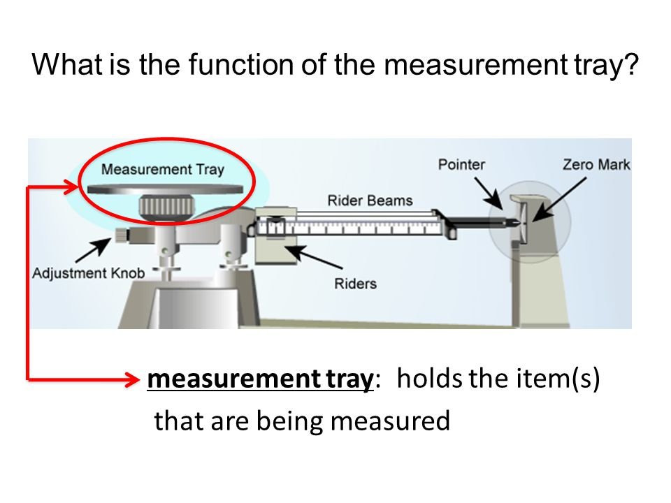 What is the function of the measurement tray