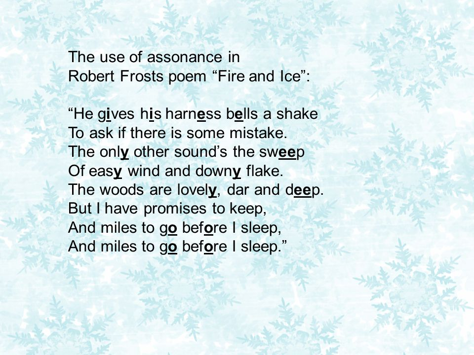 """the use of imagery in robert Robert frost creates two winter scenes with different outcomes the first, """"desert places"""" is a sad poem about loneliness and lost enthusiasm """"stopping by woods on a snowy evening"""" is a rather uplifting poem about enjoying simple things in life."""