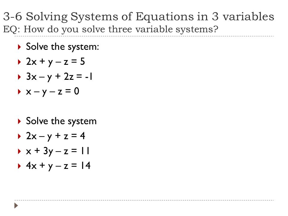 3 1 homework solving systems of equations answers