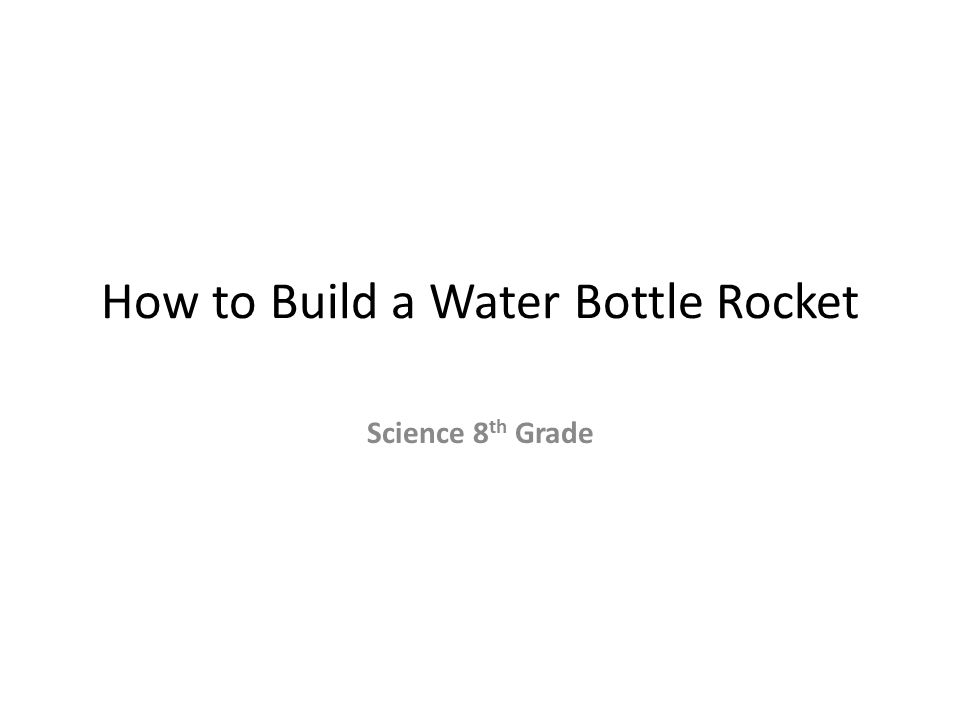 how to make a bottle rocket video