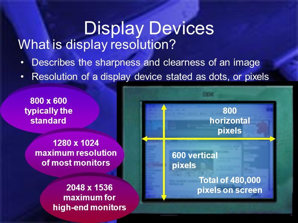 Display Devices What is display resolution