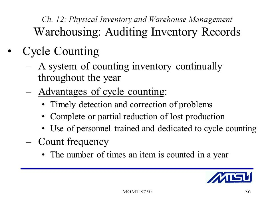 the purpose of a record inventory The inventory records are kept in a spreadsheet or in another system reserved for that purpose the inventory sheet (figure 3) can list the items alphabetically or in the order they will appear on the shelves in the storage areas.