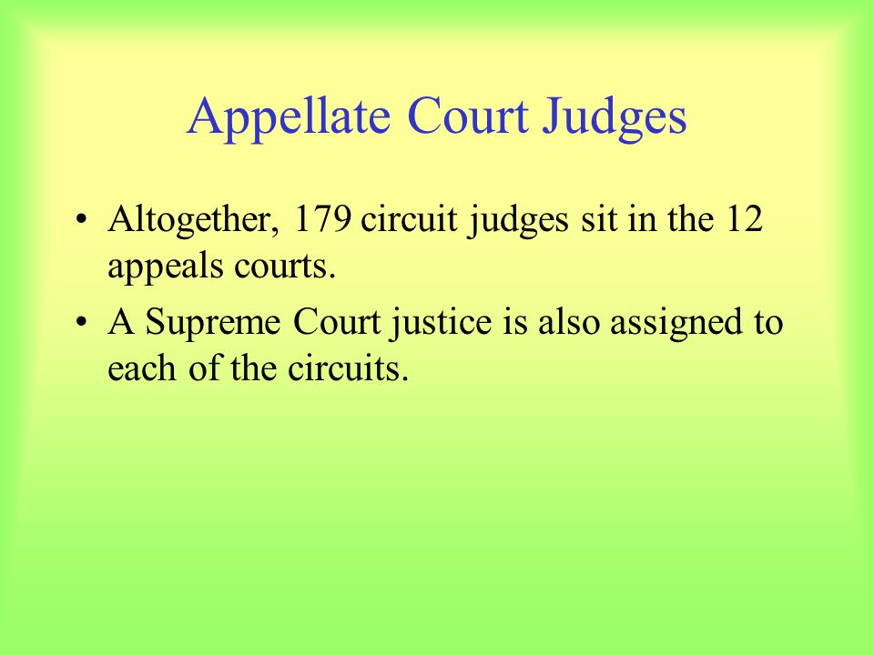 Appellate Court Judges