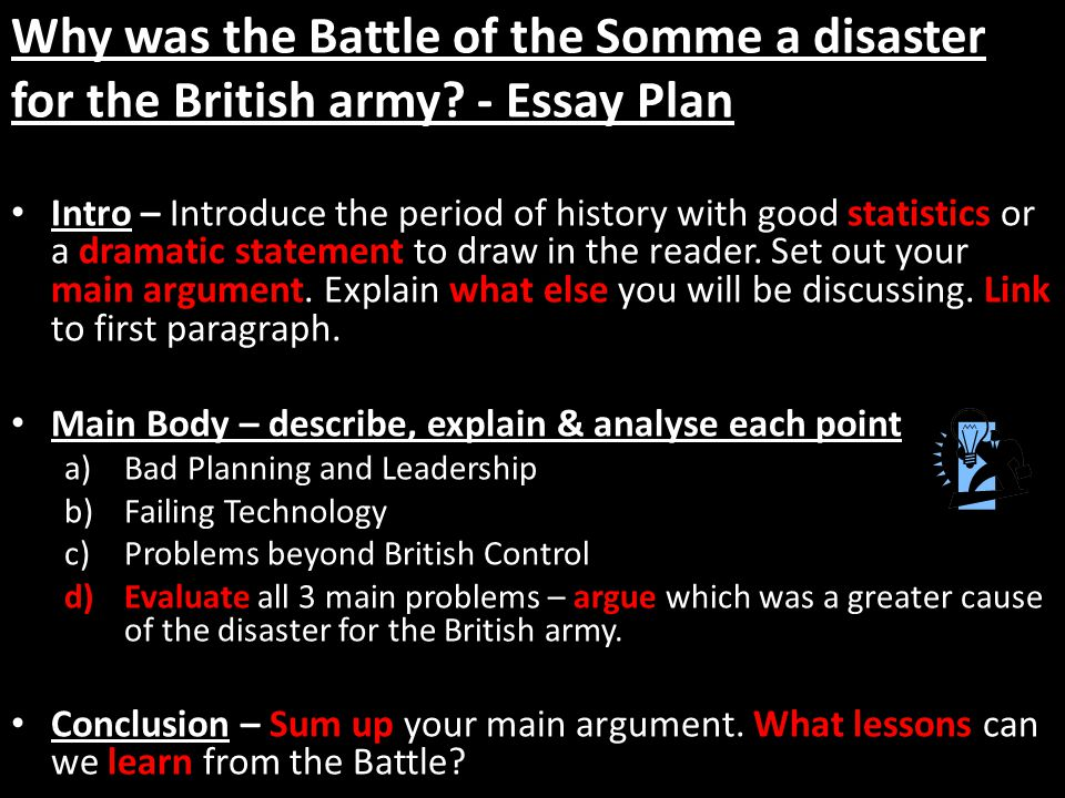 was the battle of the somme a success essay Battle of the somme essaysthe aim of this report is to give an overview of the battle of the somme, and judge the extent to which it can be seen as a success or failure for the allies.