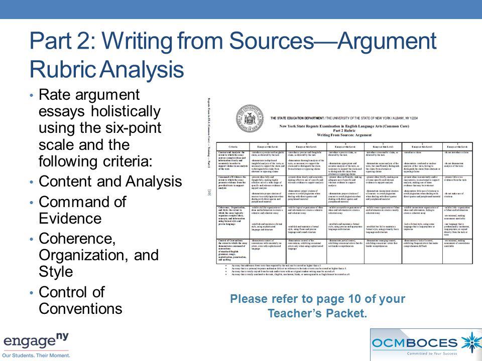 Nys engage ny argument essay rubric