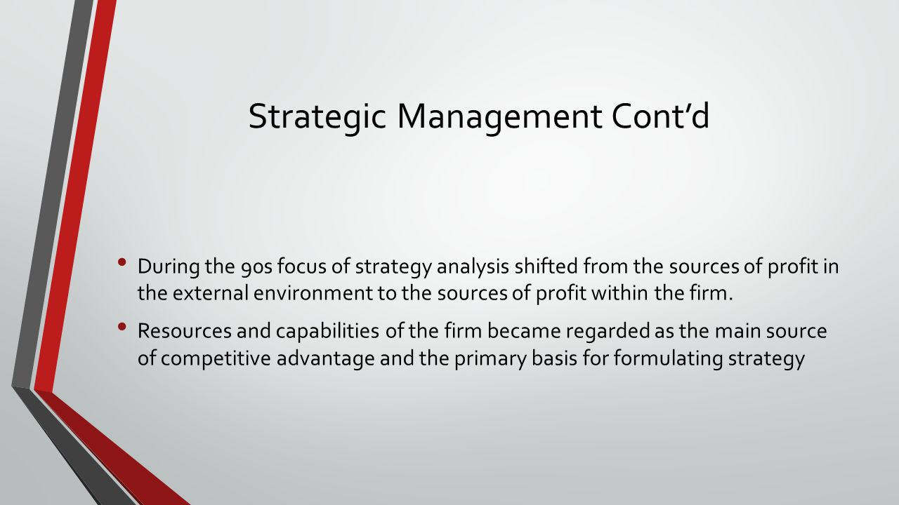 differences between the two views of strategy resource based view rbv and industrial organization The resource-based view (rbv) is a model that sees the performance of the firm in terms of its resources its proponents focus on the viewthat firms should look for the sources of competitive.