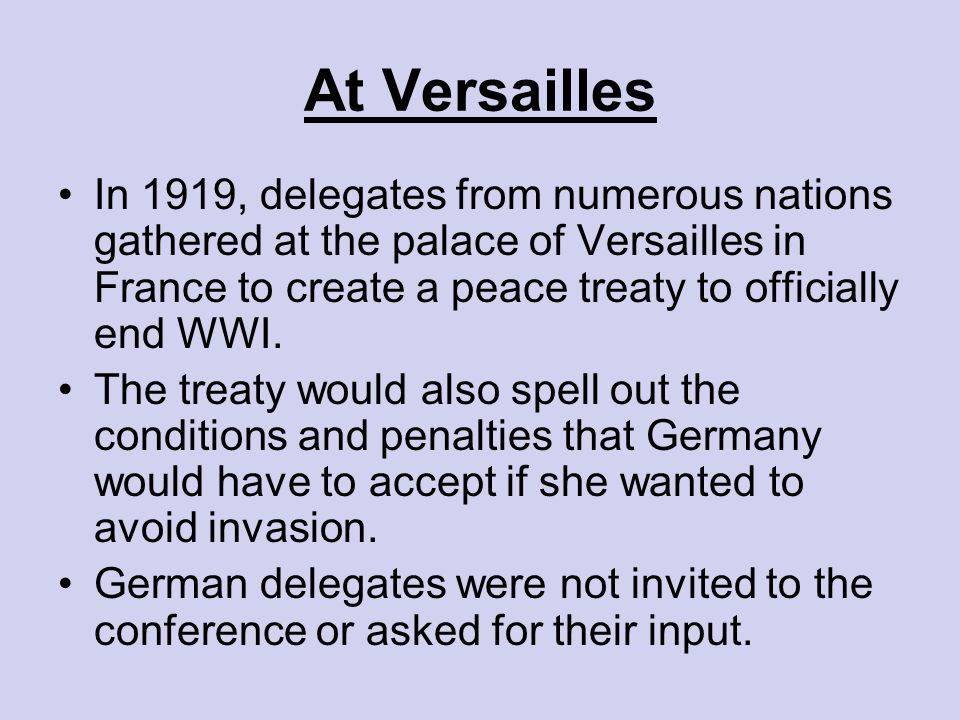 treaty of versailles do peace settlements Versailles treaty and the may 4th movement: the insistence of us president wilson on a peace settlement in accord with his ideals.