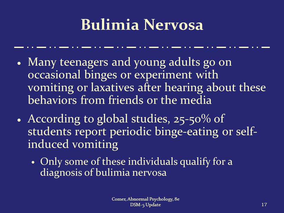 abnormal behavior in young adults