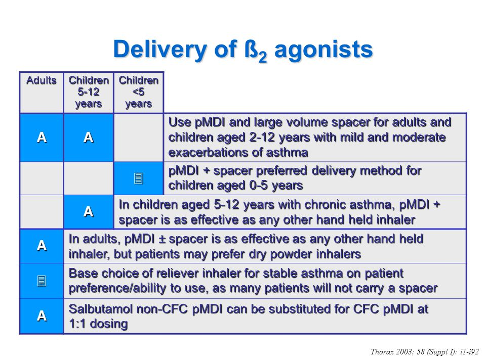Delivery of ß2 agonists  A