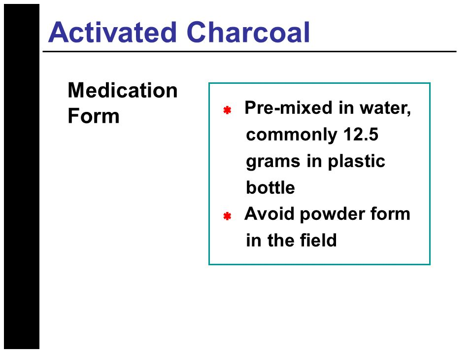 adult dosage for activated charcoal