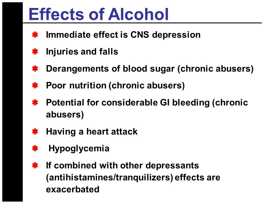effects of alcohol on nutrition Alcohol consumption can be the cause of several diseases depending on the frequency and quantity, the consumption of alcohol may increase the risk of malnutrition, weight-gain, obesity and cardio.