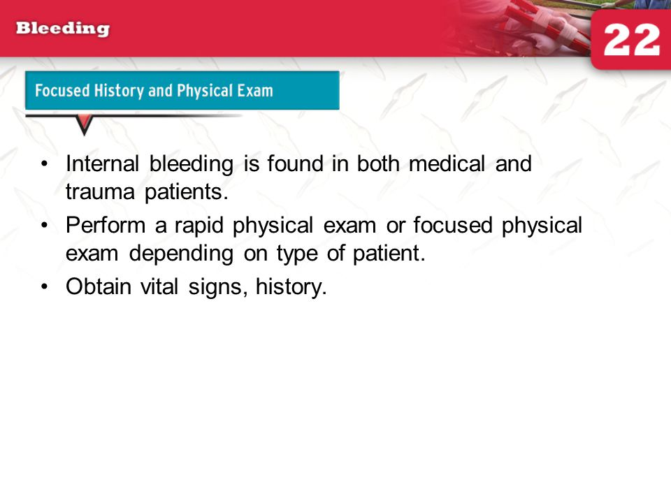 22  bleeding