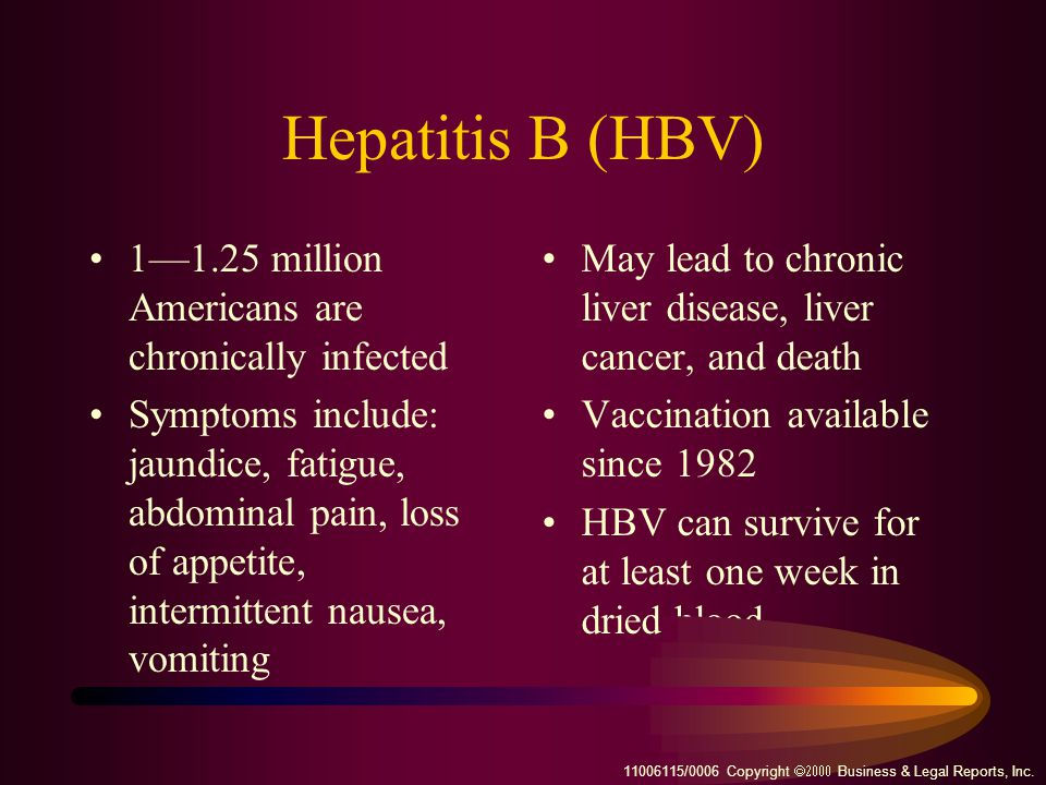 Hepatitis B (HBV) 1—1.25 million Americans are chronically infected