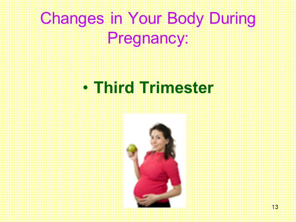 Changes in Your Body During Pregnancy: