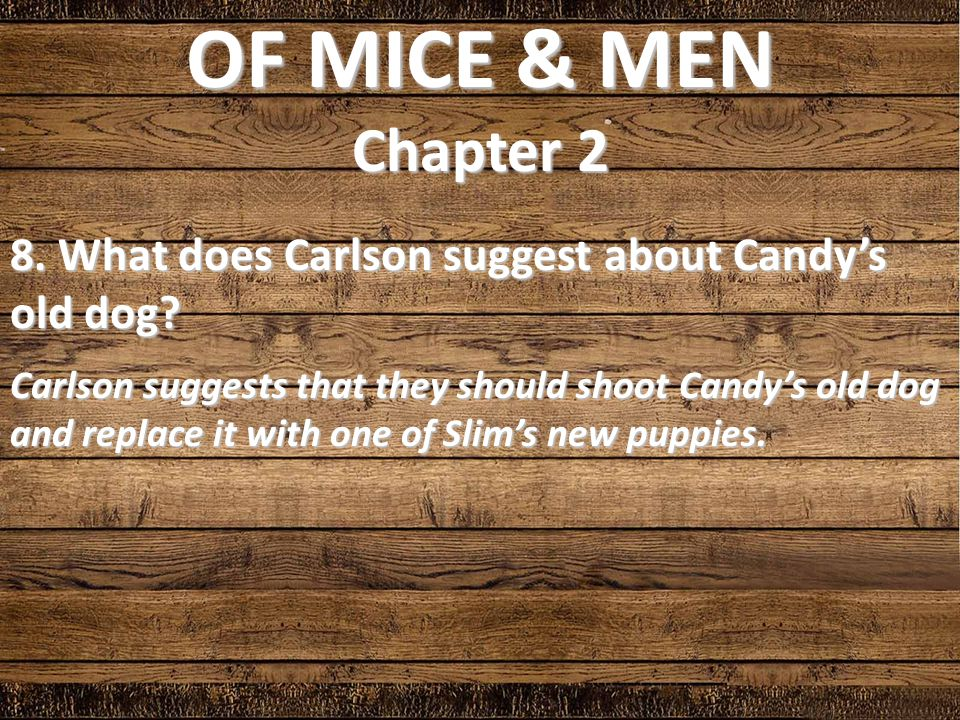 of mice and men how does 'of mice and men' is a novel written by john steinbeck in 1937 this book, though easy at the surface, contains many hidden meanings, details and observations of.