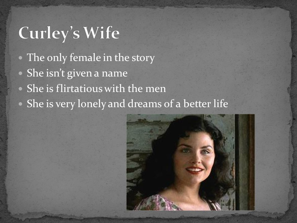 Curley's Wife The only female in the story She isn't given a name