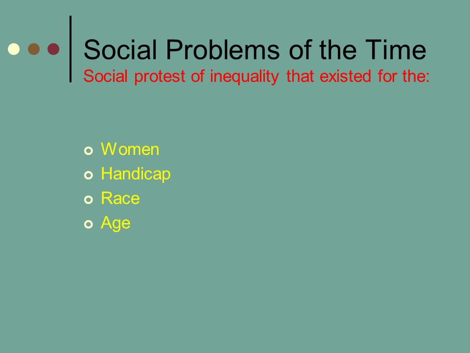 Social Problems of the Time