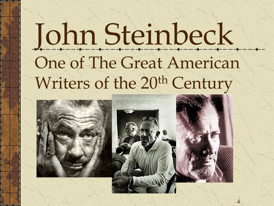 great depression john steinbeck This powerpoint shows how the great depression effected the american  john  steinbeck & dorthea lange recorded the misery of the great.