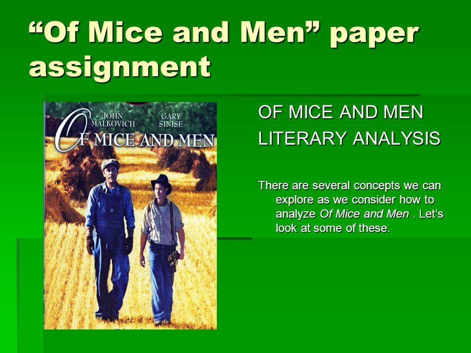 a literary analysis of mice and men