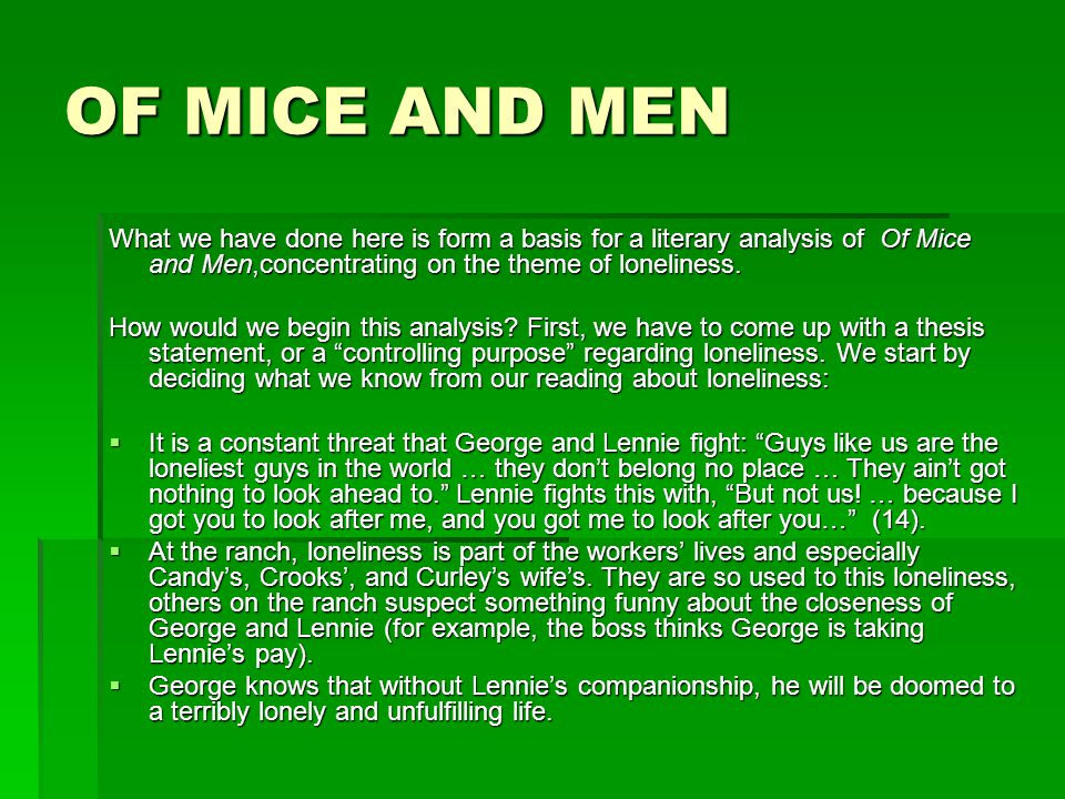 a review of of mice and men essay Of mice and men quiz that tests what you know perfect prep for of mice and men quizzes and tests you might have in school.