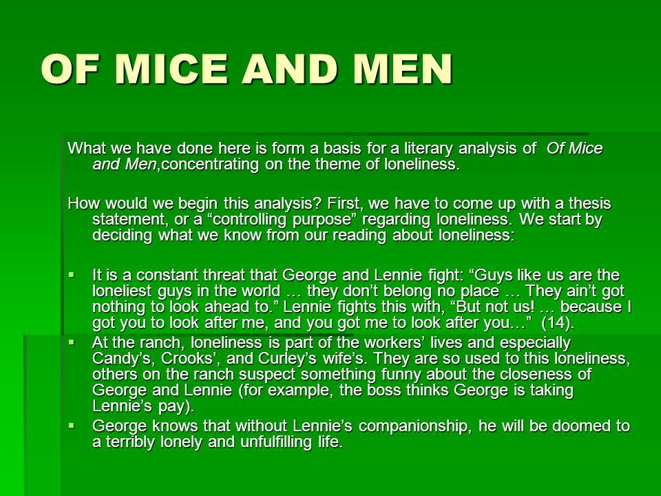 theme analysis of mice and men