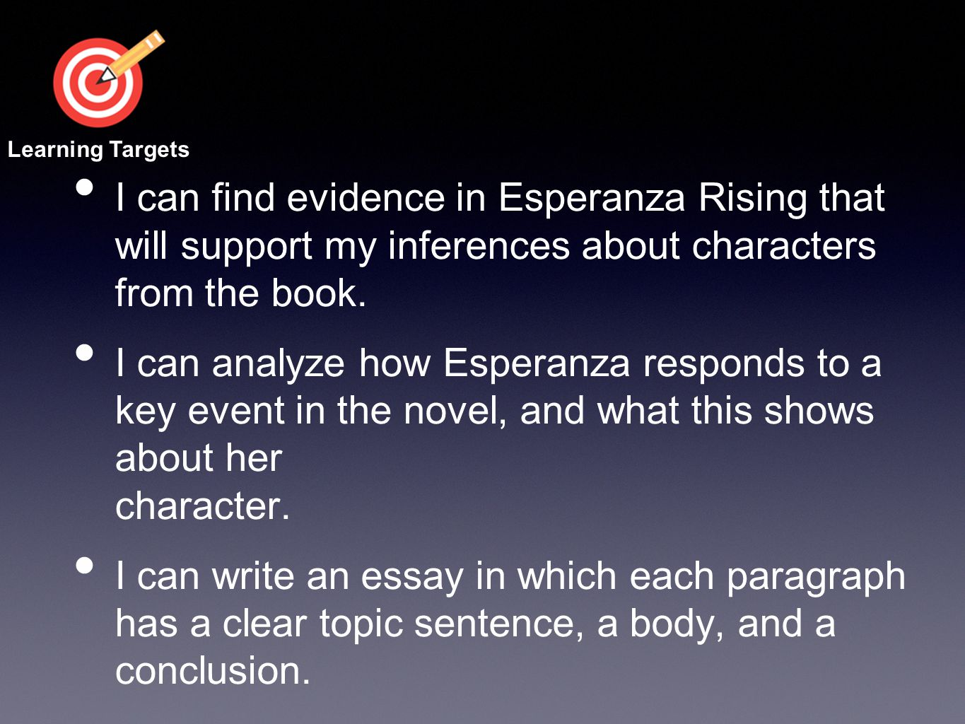 Esperanza Rising Short Essay - Answer Key