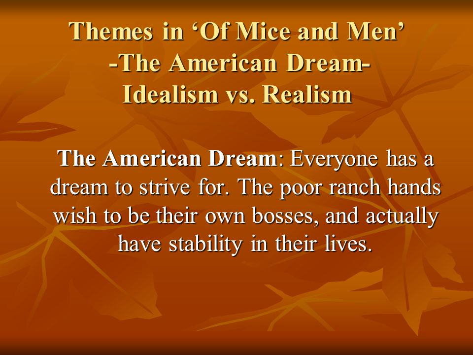 of mice and men and the american dream