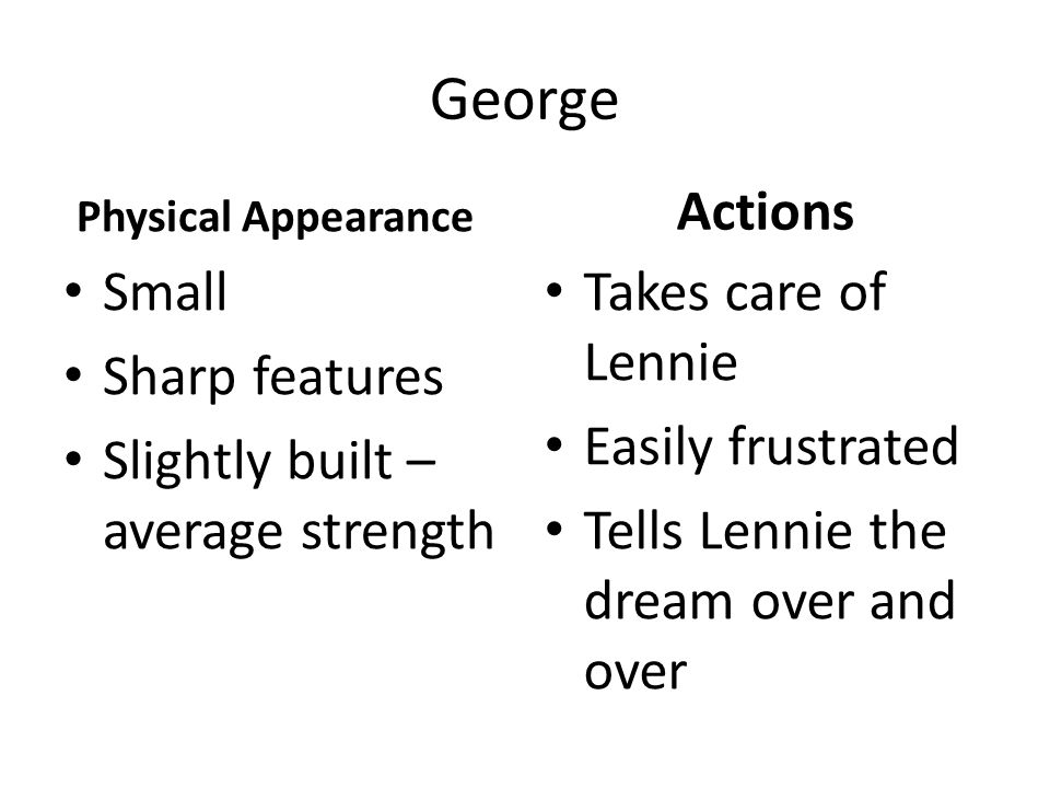 Of Mice and Men Character Chart. - ppt download