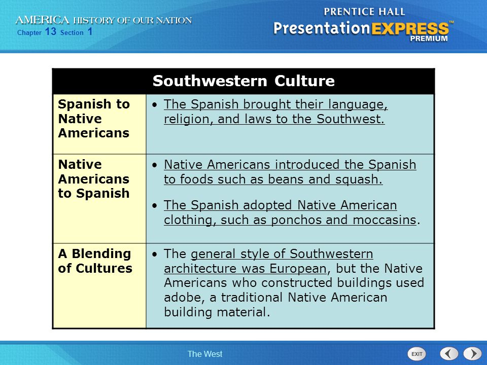 Southwestern Culture Spanish to Native Americans