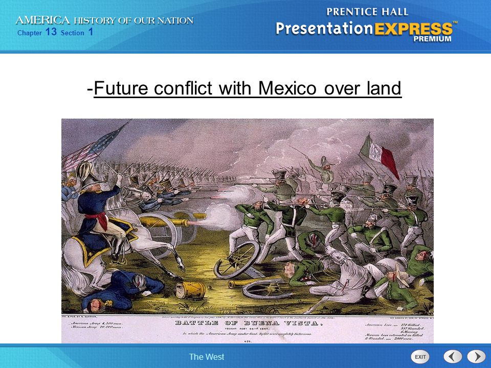 Future conflict with Mexico over land