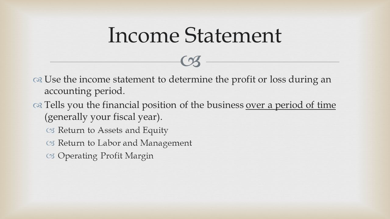 making a profit and loss statement