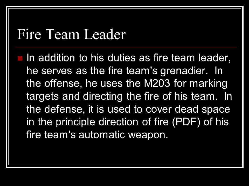 Fire Team Leader