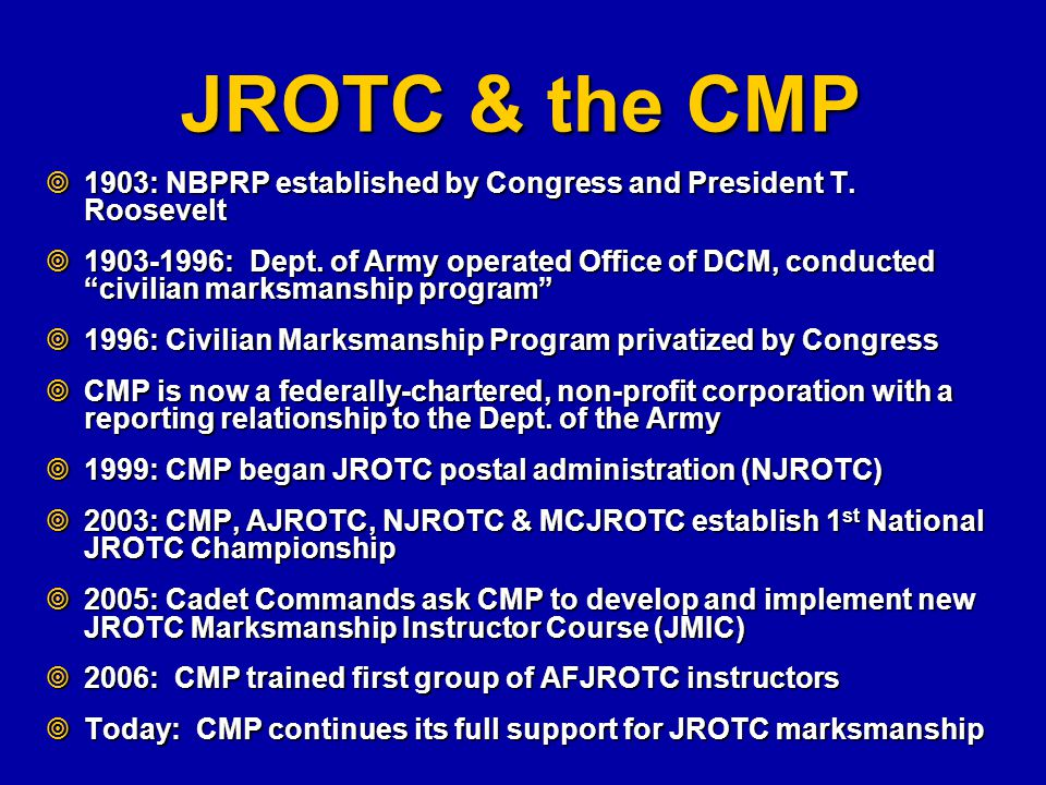 jrotc program and its impact Rotc and jrotc about the army's rotc the army's reserve officer training corps program is an elective curriculum you take along with your required college classes.