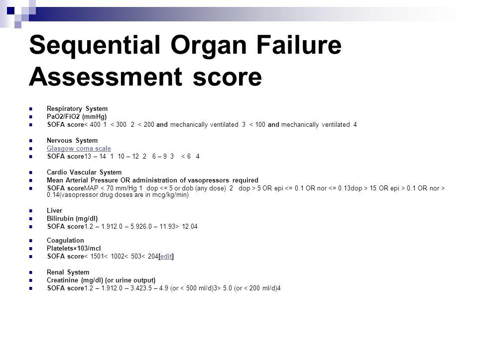 sofa sepsis score Scifihitscom : SequentialOrganFailureAssessmentscore from www.scifihits.com size 960 x 720 jpeg 66kB