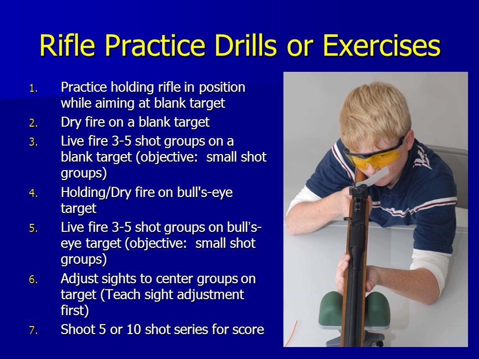 Rifle Practice Drills or Exercises