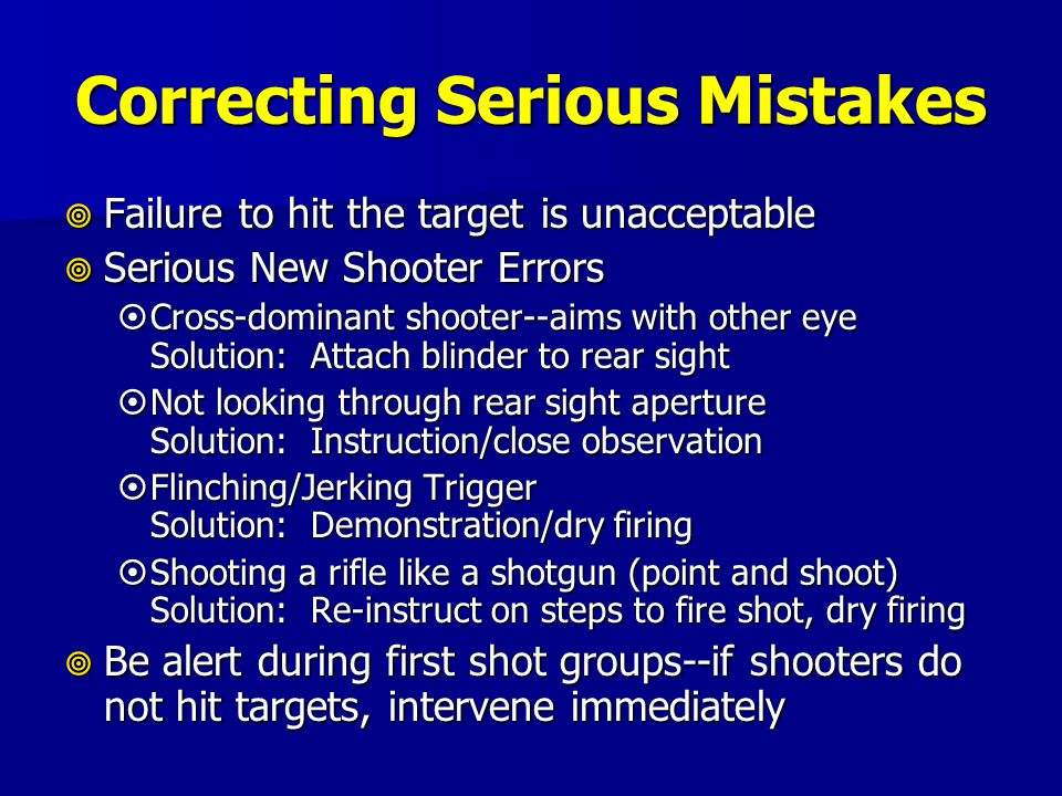 Correcting Serious Mistakes
