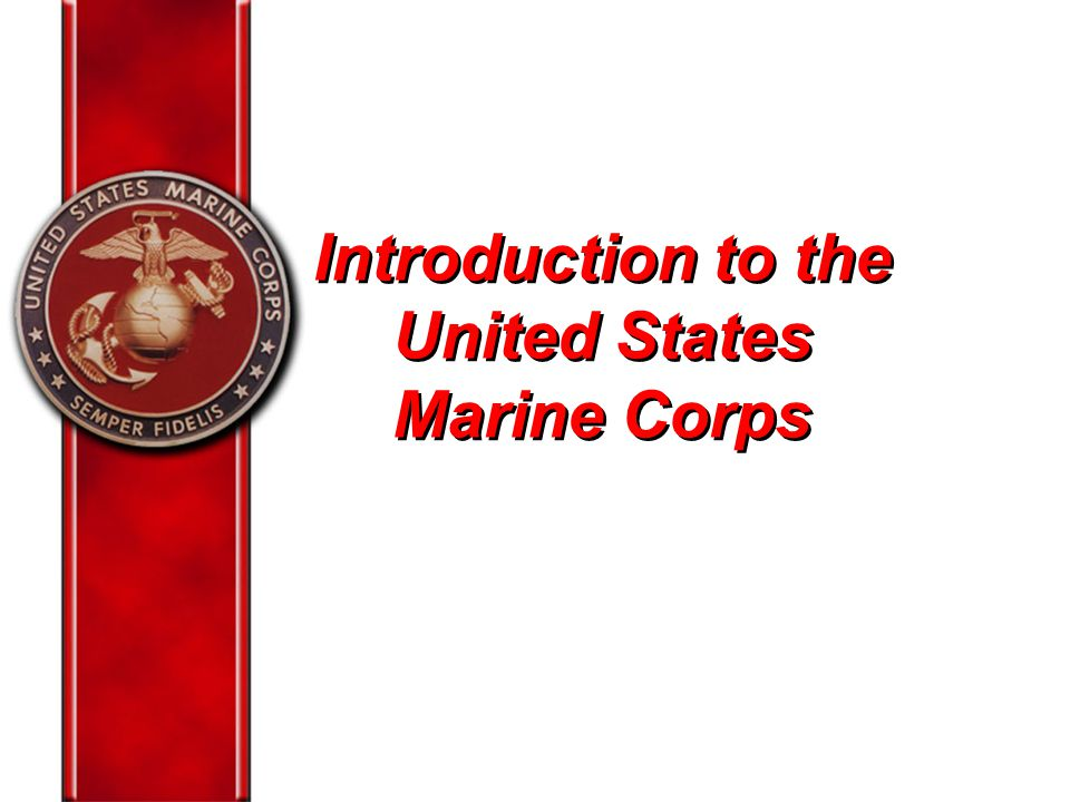 Introduction to the United States Marine Corps - ppt video ...