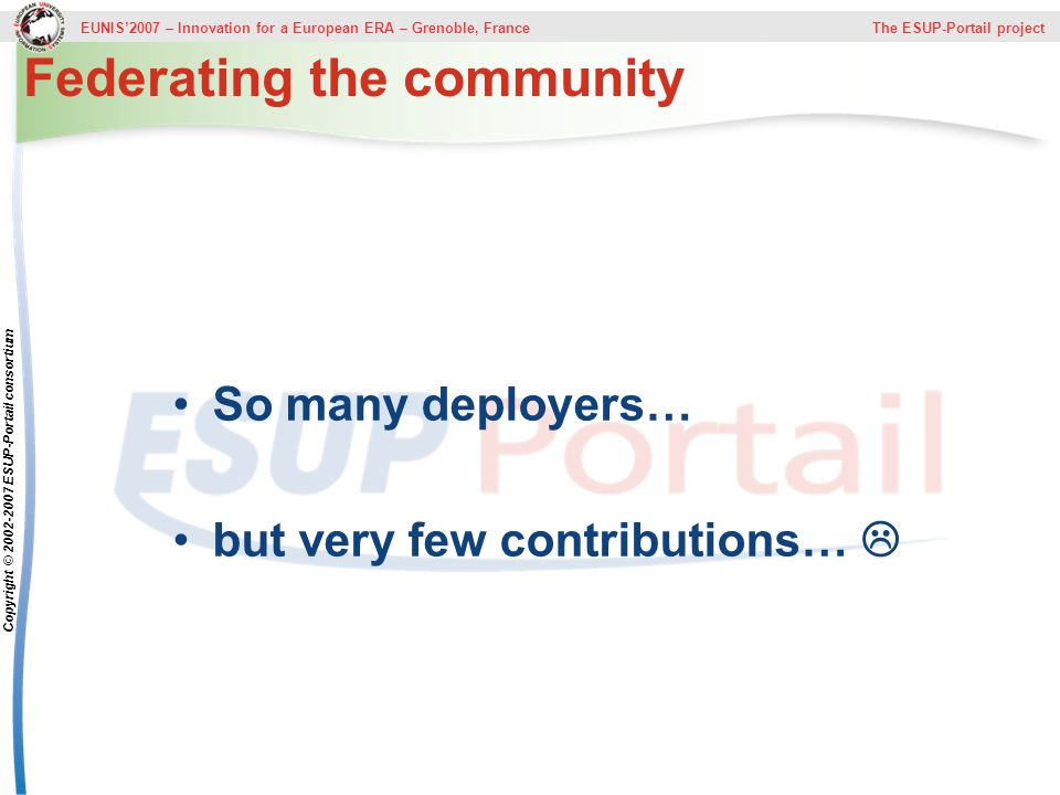 Federating the community