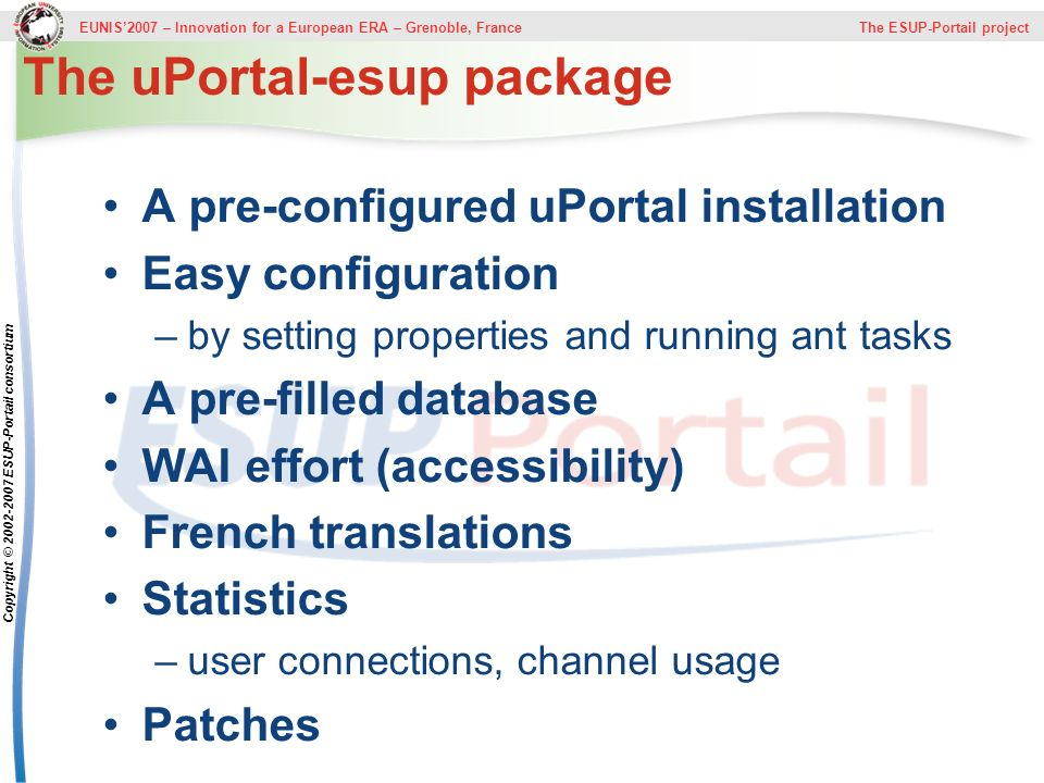 The uPortal-esup package